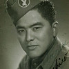 Title: Seiji Oshiro, Antitank Company, 442nd RCT<br /> <br /> Inscription: Always Oshiro<br /> <br /> Location: Nice, France<br /> <br /> Notes from Seiji: Cap patch for airborne glider. He was an airborne glider for 3 months. Paid $100/month.  Double pay because it was a suicide job. Then went down to $50/month but not as glider. Glider was made out of canvas, no engine. Safest plane because the engine will never fail.<br /> <br /> Photo courtesy of Seiji Oshiro. Copyright retained by the Estate of Seiji Oshiro.