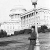 Title: Yasunori Deguchi on furlough<br /> <br /> Date: 1943.10.xx<br /> <br /> Location: Washington, DC<br /> <br /> Notes: Capitol building in background<br /> <br /> Photo courtesy of Yasunori Deguchi. Copyright retained by the Estate of Yasunori Deguchi.