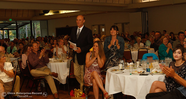 At the 44th Chico Sports Hall of Fame and Senior Athletes' Banquet May 10, 2016 at the Elks Lodge in Chico, Calif. (Emily Bertolino -- Enterprise-Record)