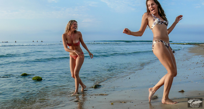 Beautiful Blond & Brunette Malibu Surf Girls! Tall, Thin, Fit, Hot & Pretty Bikini Swimsuit Model Goddesses!