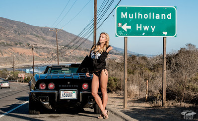 Nikon D800E Photos Blond Bikini Swimsuit Model Goddess & 69 Black Convertible Corvette