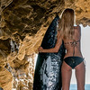 Nikon D800E Photos Gorgeous Blond Bikini Swimsuit Model Goddess in Malibu Sea Cave
