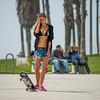 Skater Girl & Skateboard Skateboarding in Venice! Nikon D800   70-200mm VR2 F/2.8 Nikkor Lens