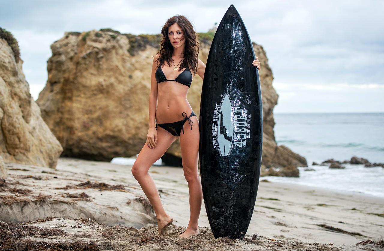 Nikon D800E Photos of Beautiful Brunette Swimsuit Bikini Model Goddess with Curly Hair