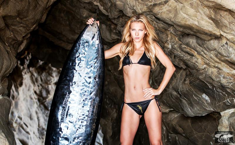 Nikon D800E Photos Gorgeous Blond Bikini Swimsuit Model Goddess in Malibu Sea Cave