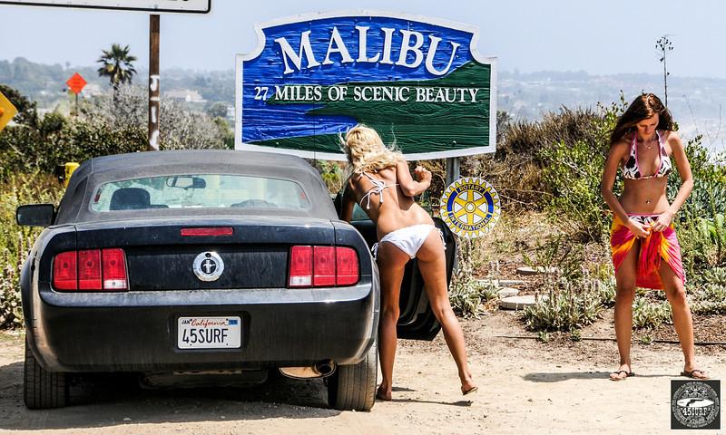 Beautiful Blond & Brunette Malibu Surf Girls! Tall, Thin, Fit, Hot & Pretty Bikini Swimsuit Model Surf Goddesses!