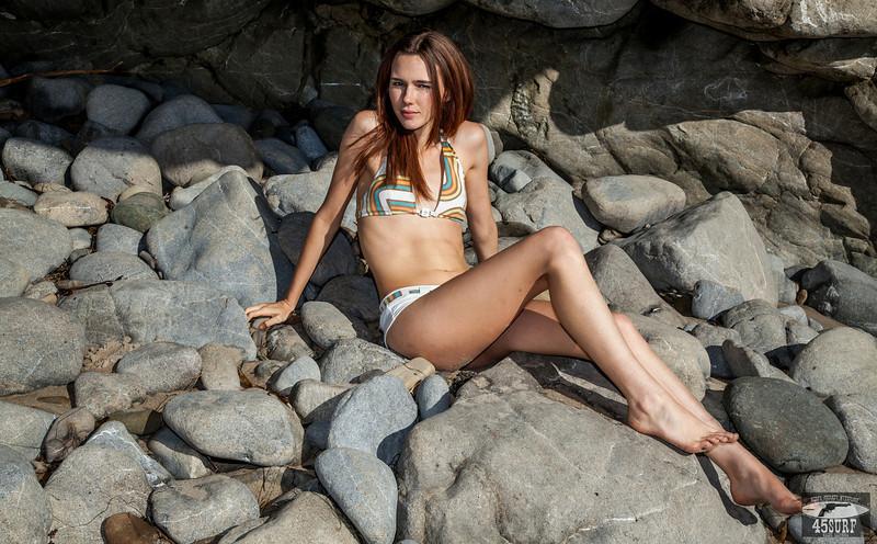 PRETTY Irish Redhead! Canon 5D Mark II Photos of Beautiful Ginger Swimsuit Bikini Model Goddess with Pretty Blue Eyes !