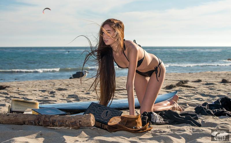 WINDY! Nikon D800E Photos of Tall, Thin, Pretty Asian Swimsuit Bikini Model Goddess! Nikkor 70-200mm F/2.8 VR2 Lens