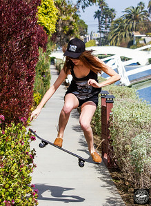 Venice Canals! Sk8er Girl with Skateboard: Socal lifestyle skater photoshoot in Venice! Canon 7D!