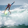 Pro Surfer TatiWest's Amazing Floater Van's US Open Opening Round