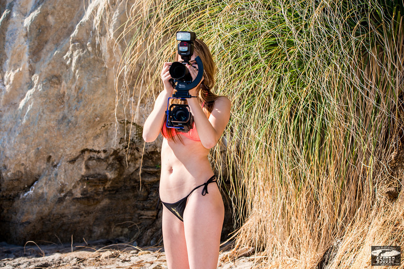 Beautiful Bikini Swimsuit Model Shooting 36mp Stills (Sony A7R) & 4K Video (Sony FDR-AX1) @ the Same Time!