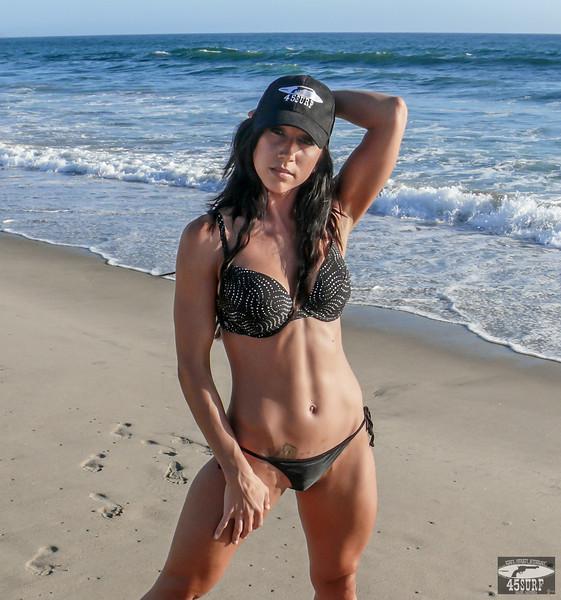 Beautiful Tall, Tan, Fit, Toned Brunette Body Builder Hero's Journey Mythology Swimsuit Bikini Model Goddess!  Amazing Muscular Abs & Toned Body & Muscles!