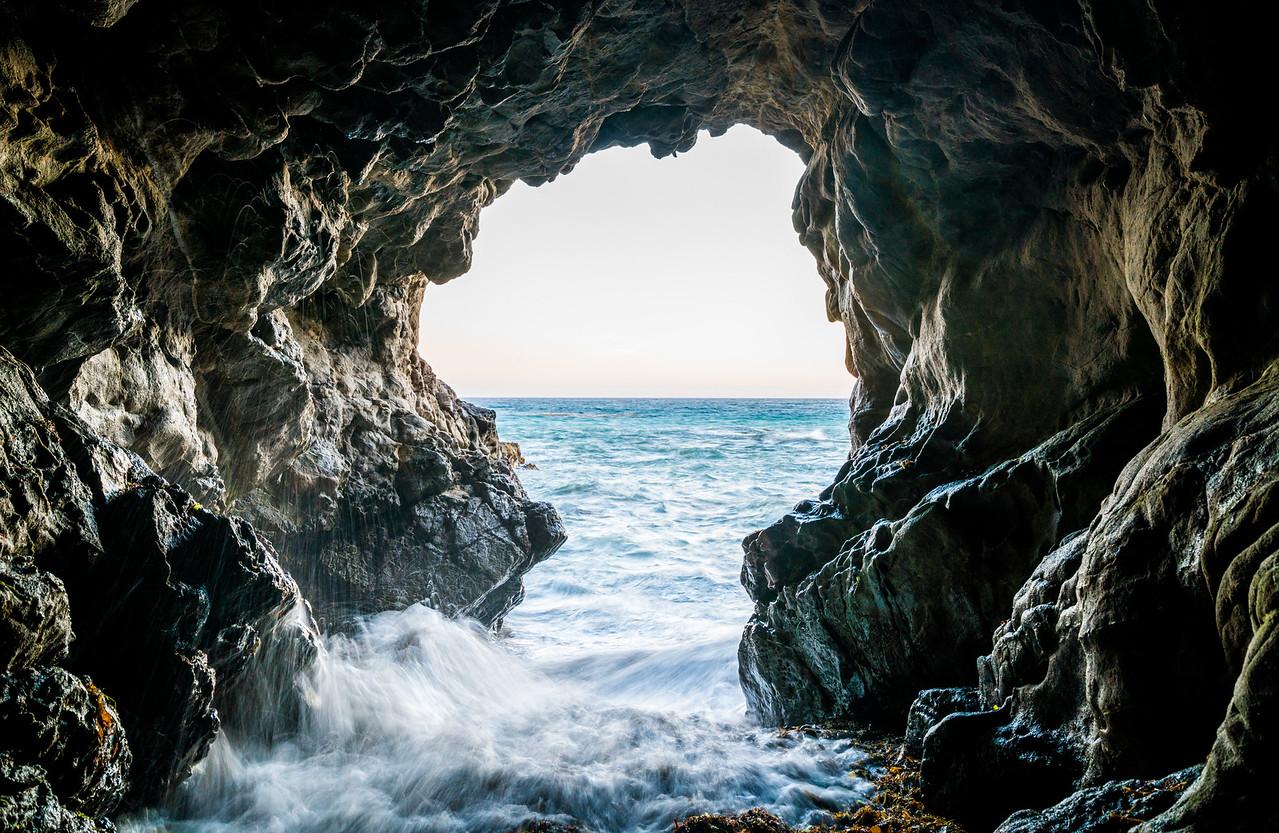 Malibu Sea Cave Sunset!