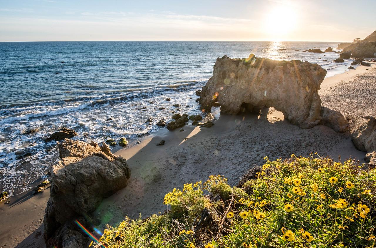 Malibu Sunset! Red, Yellow, Orange Clouds! Magical El Matador Beach Sunset! Nikon D810 HDR Photos Dr. Elliot McGucken Fine Art Photography!  14-24mm Nikkor Wide Angle F/2.8 Lens