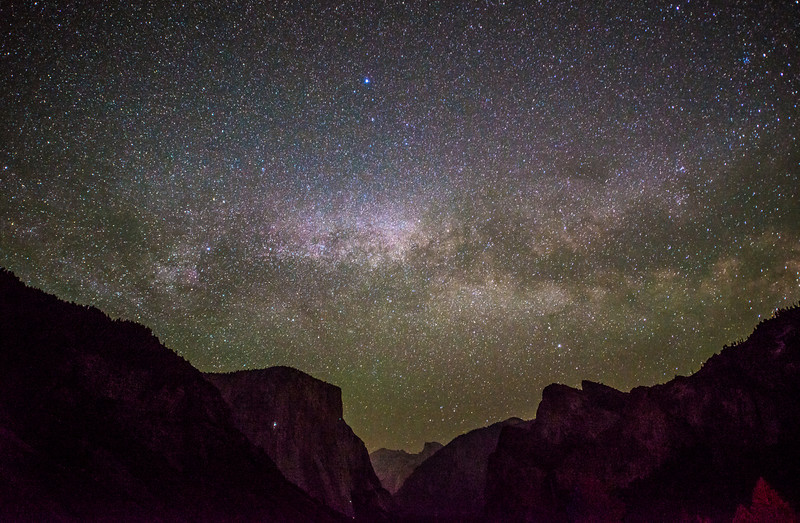 Milky Way Galaxy Rising over El Capitan & Half Dome in Yosemite! Night Photography! Nikon D800E Dr. Elliot McGucken Fine Art Landscape & Nature Photography for Los Angeles Fine Art Gallery Show !