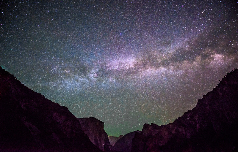 Milky Way Galaxy Rising over El Capitan & Half Dome in Yosemite! Night Photography! Nikon D800E Dr. Elliot McGucken Fine Art Landscape & Nature Photography for Los Angeles Fine Art Gallery Show !