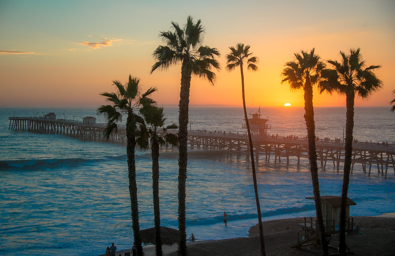 Nikon D800E Fine Art! A Study of the Sunset at the San Clemente Pier!  Dr. Elliot McGucken Fine Art Photography! Nikon AF-S Nikkor 28-300mm f/3.5-5.6G ED VR!