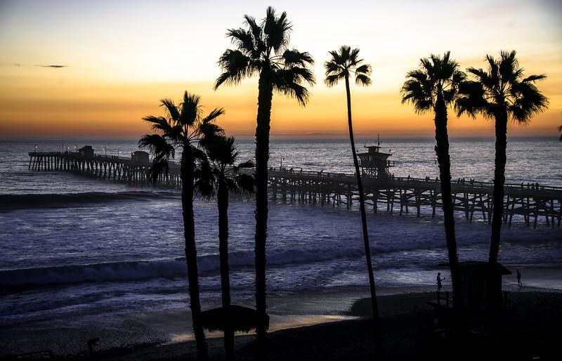 Nikon D800E Fine Art! A Study of the Sunset at the San Clemente Pier!  Dr. Elliot McGucken Fine Art Photography! Nikon AF-S Nikkor 28-300mm f/3.5-5.6G ED VR!