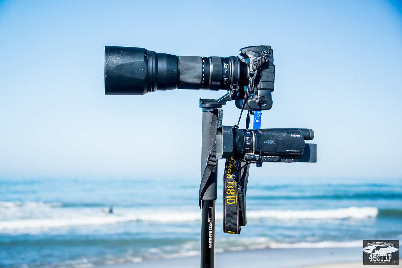 Nikon D810 + 4K Sony FDR-AX100/B 4K Video Camcorder For Shooting Stills and Video @ The Same Time of The Pro Surf Goddesses !