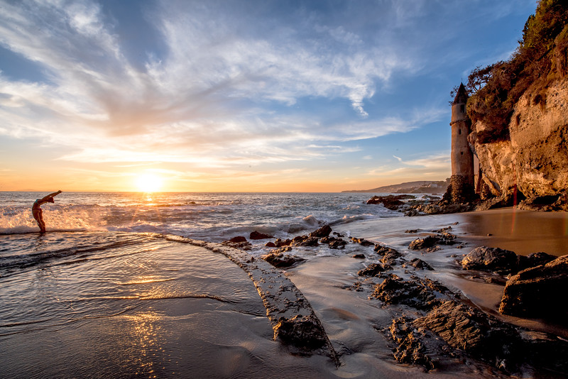 Nikon D810 HDR Photos Laguna Beach Sunset, Dr. Elliot McGucken Fine Art Photography!  14-24mm Nikkor Wide Angle F/2.8 Lens!