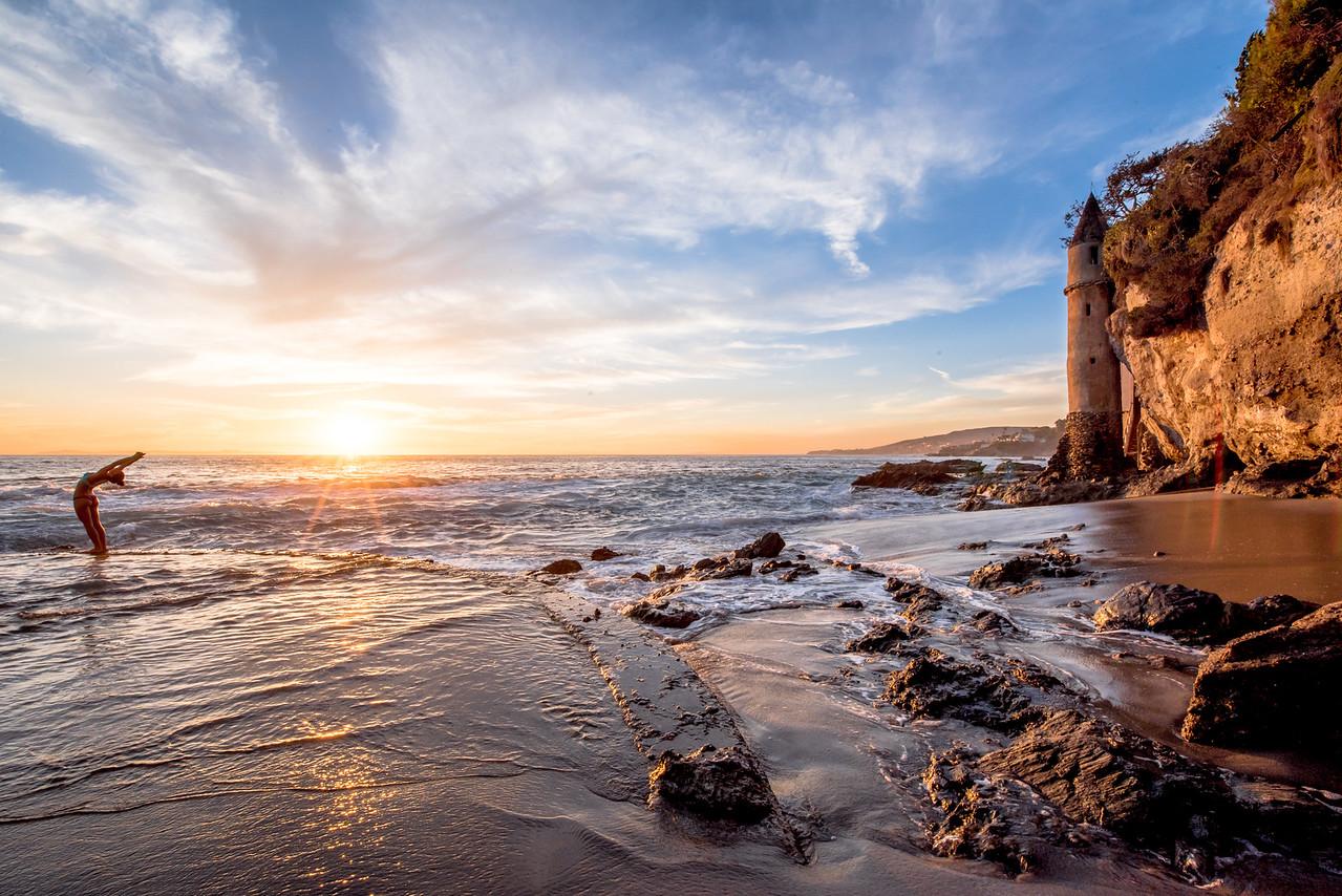 Nikon D810 HDR Photos Laguna Beach Sunset, Dr. Elliot McGucken Fine Art Photography!  14-24mm Nikkor Wide Angle F/2.8 Lens!