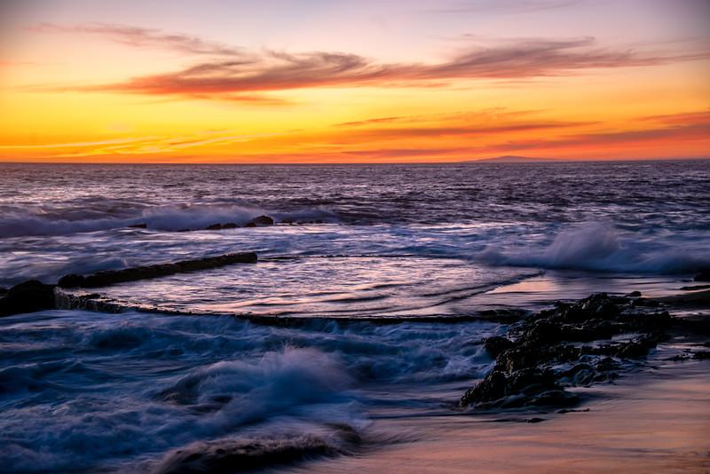 Nikon D810 HDR Photos Laguna Beach Sunset, Dr. Elliot McGucken Fine Art Photography!  14-24mm Nikkor Wide Angle F2.8 Lens!