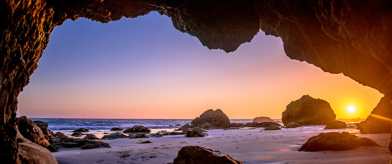 Nikon D810 HDR Photos Malibu Sea Cave Sunset, Dr. Elliot McGucken Fine Art Photography!  14-24mm Nikkor Wide Angle F/2.8 Lens!
