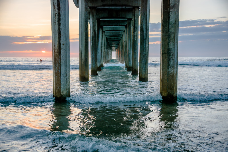 Nikon D810 HDR Photos Scripts Pier Sunset San Diego / La Jolla Dr. Elliot McGucken Fine Art Photography!