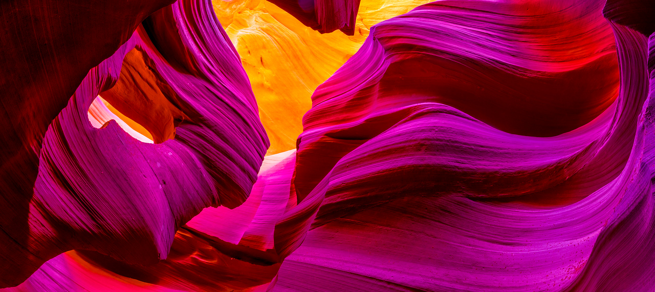 Nikon D810 Photographs Panorama !  Red Sandstone Lower Antelope Canyon Slot Canyons Page Arizona!  Dr. Elliot McGucken Fine Art Photography