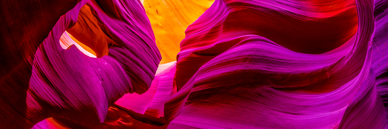 Nikon D810 Photographs Panorama !  Red Sandstone Lower Antelope Canyon Slot Canyons Page Arizona!  Dr. Elliot McGucken Fine Art Photographer