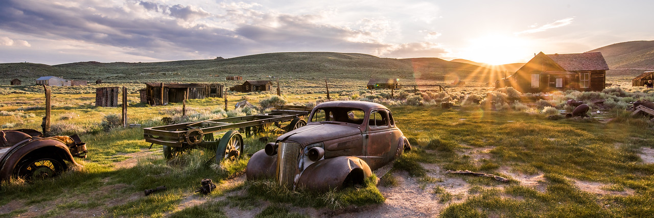 Old Classic Car: Bodie Ghost Town in a Breaking Thunderstorm! Nikon D810 Fine Art Landscape Photos! John Muir Country-- The Eastern Sierra! Dr. Elliot McGucken Fine Art Nature Photography!