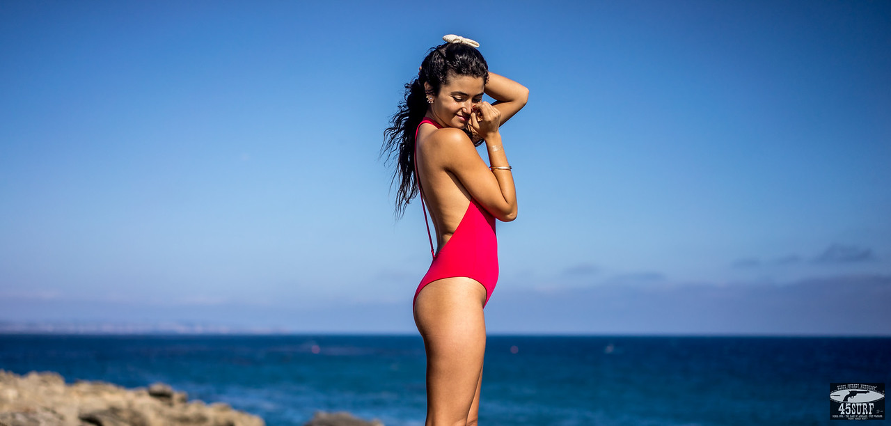 RED One Piece Swimsuit : Sony A7R RAW Photos of Tall, Thin Pretty Brunette Bikini Swimsuit Model Goddess! Carl Zeiss Sony FE 55mm F1.8 ZA Sonnar T* Lens! Lightroom 5 .3 !