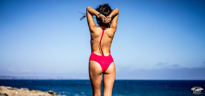 RED One Piece Swimsuit : Sony A7R RAW Photos of Tall, Thin Pretty Brunette Bikini Swimsuit Model Goddess! Carl Zeiss Sony FE 55mm F1.8 ZA Sonnar T* Lens! Lightroom 5 .3 !