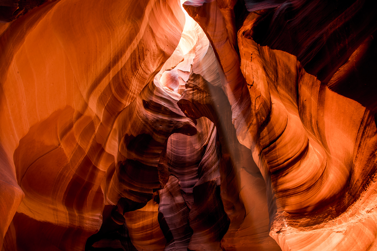 Red & Orange Slot Canyon Ghosts & Light Beams Dancing in Antelope Valley! Nikon D800E Dr. Elliot McGucken Fine Art Photography for Los Angeles Gallery Show!