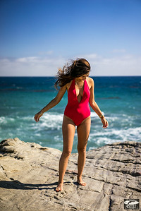 Red one piece swimsuit! Sony A7R RAW Photos of Tall, Thin Pretty Brunette Bikini Swimsuit Model Goddess! Carl Zeiss Sony FE 55mm F1.8 ZA Sonnar T* Lens ! Lightroom 5 !