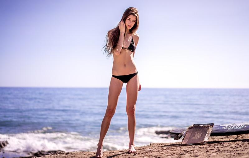 Sony A7R RAW Photos of Pretty Brunette Bikini Swimsuit Model Goddess in Sea Cave! Carl Zeiss Sony FE 55mm F1.8 ZA Sonnar T* Lens! Lightroom 5.3 Malibu Sea Cave !