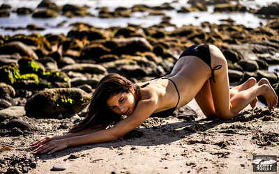 Sony A7R RAW Photos of Pretty, Tall Brunette Bikini Swimsuit Model Goddess in Seaside Bluff Cliff! Carl Zeiss Sony FE 55mm F1.8 ZA Sonnar T* Lens! Lightroom 5.3