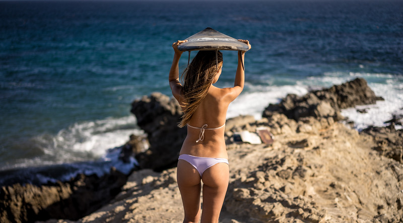 Sony A7R RAW Photos of Pretty Brunette Bikini Swimsuit Model Goddess in Seaside Bluff Cliff! Carl Zeiss Sony FE 55mm F1.8 ZA Sonnar T* Lens! Lightroom 5 Malibu Beach!