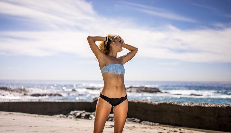 Sony A7R RAW Photos of Pretty, Tall Blond Bikini Swimsuit Model Goddess in Laguna Beach! Victoria Beach! Carl Zeiss Sony FE 55mm F1.8 ZA Sonnar T* Lens & Lightroom 5.3