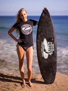 Sony A7R RAW Photos of Tall, Thin Pretty Blond Bikini Swimsuit Model Goddess! Modeling! Carl Zeiss Sony E 55mm F1.8 ZA Sonnar T* Lens ! Lightroom 5.3 ! 45surf Surfboard!
