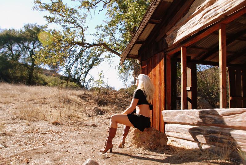 Pretty Cowgirl Model on a Beautiful Day