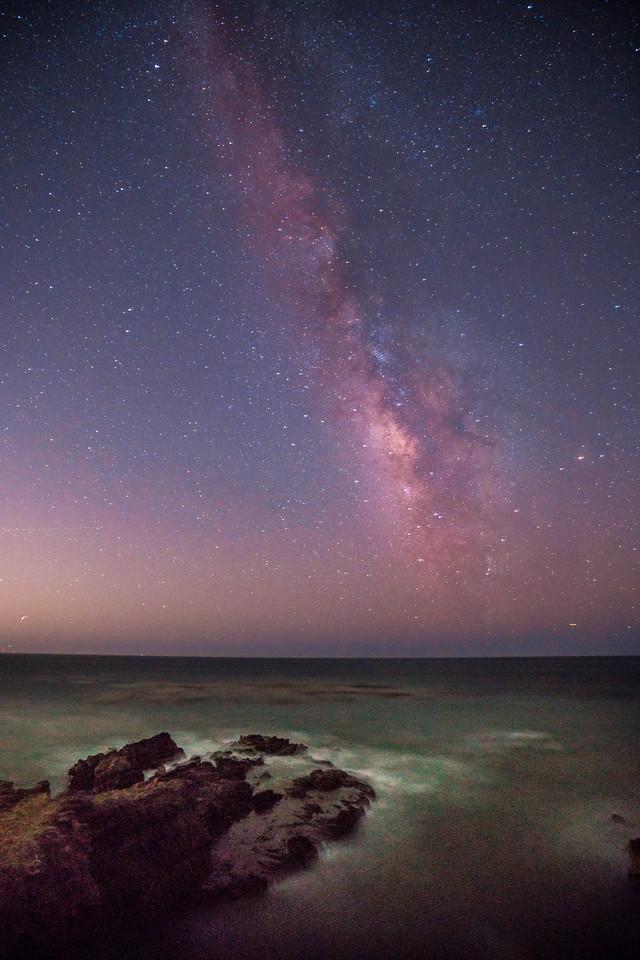 Starry Night!  Sony A7RII Fine Art Night Photography: Milky Way Rising in Malibu : Sony 16-35mm Vario-Tessar T FE F4 ZA OSS E-Mount Lens!