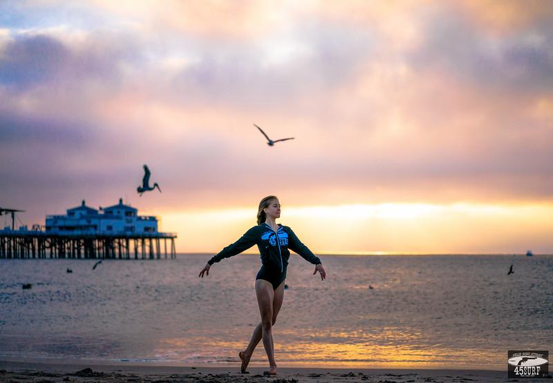 Sunrise Ballet Malibu Pier! Sony A7R RAW Professional Dancer Ballerina Goddess Photos! Pretty, Tall Ballet Model Goddess! Carl Zeiss Sony FE 55mm F1.8 ZA Sonnar T* Lens! Lightroom 5.7