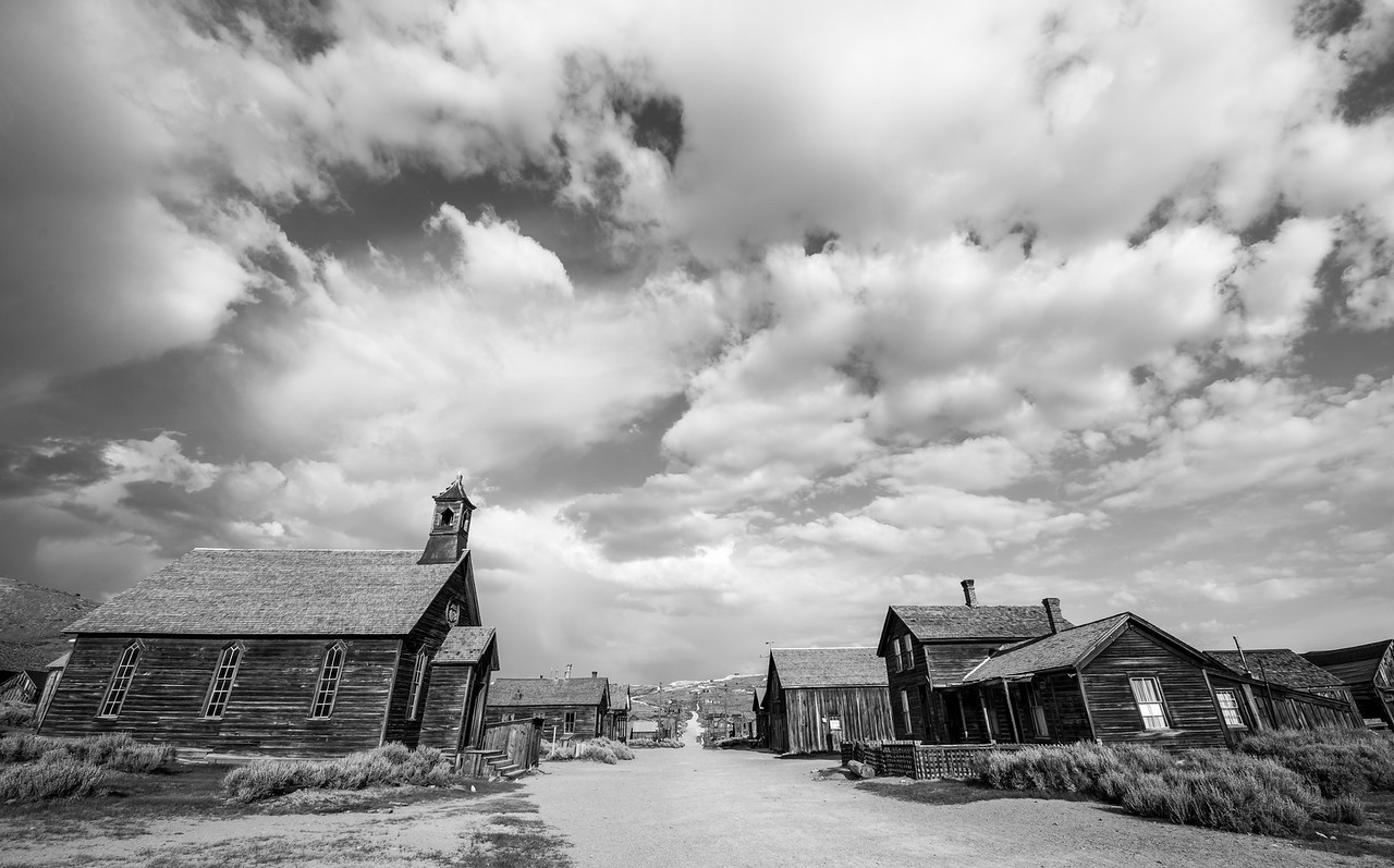The Bodie Ghost Town in a Breaking Thunderstorm! Nikon D810 Fine Art Landscape Photos! John Muir Country-- The Eastern Sierra! Dr. Elliot McGucken Fine Art Nature Photography!