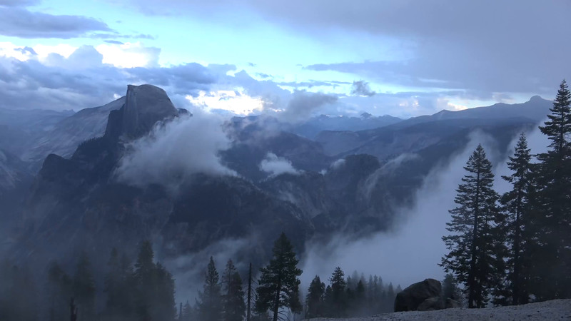 Yosemite Fog & Storm Half Dome Blowing in and Out!