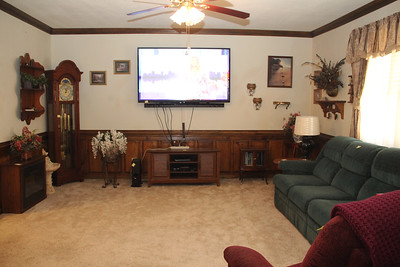 Living room with wainscoting panels