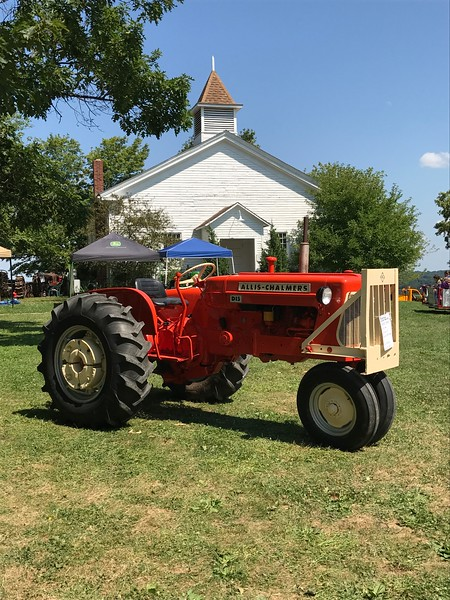 An Allis-Chalmers tractor sits on display at the 47th annual Antique Power and Steam Exhibition in Burton, Ohio July 30. (Harley Marsh/The News-Herald)