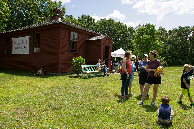 The 47th annual Tyngsboro-Dunstable Historical Society Strawberry Festival was held at the Sarah Tyng Little Red School House in Dunstable on Saturday, June 22, 2019. SENTINEL & ENTERPRISE/JOHN LOVE
