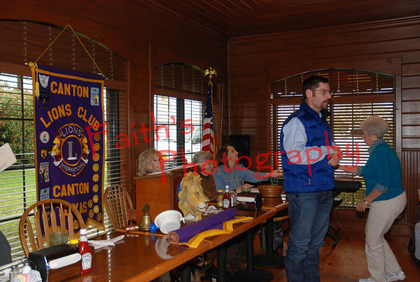 Speeches at the Lions Club meeting 031109