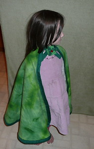 "$15 each or two for $25 - All capes are made from polyester fleece and trimmed with ribbon.  They measure approximately 25"" in length - there is one cloak that measures 30"" (#11)  The closure at the neck is velcro and trimmed with a cute decorative piece."